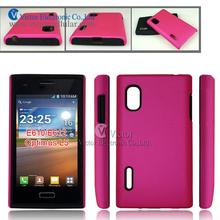 2014 new innovative design mobile phone accessories made in China silicone combo case for LG E400 Optimus L5