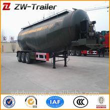 bulk pó caminhão tanque reboque com volume e opcional para venda