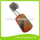 screen imprint dog tag, offset dog tag, dog tag necklace