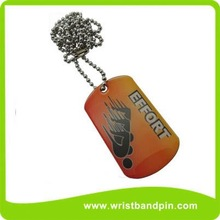 screen imprint dog tag, offset dog tag, dog tag necklace