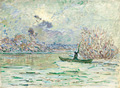 Wholesale 20*24inch Handmade Wall Art Painting Monet Canvas Abstract Winter Oil Painting Winter