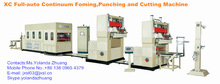 Autoamtic Strawberry Box Forming, Punching and Cutting Machine(with counting and stacking)
