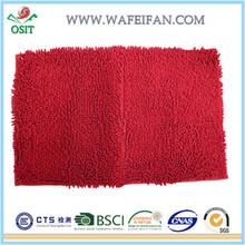 anti slip chenille polyester microfiber branded modern design bedroom mat