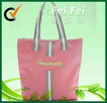 600D pink tote bag for promotion
