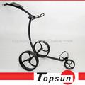 nuevo concepto de acero inoxidable de golf carretilla de mano negro carrito de golf favorable al medio ambiente