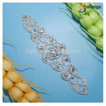 New Products 2014 Rhinestone China Wholesale Crystal sew on rhinestone mesh trimming For Bridal Dress