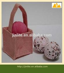 pink mini jute bag