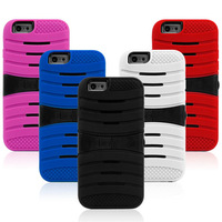 For Apple iPhone6 Heavy Duty Rugged Hard Hybrid Kickstand Protect Case Cover