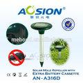 Rifornimento della fabbrica giardino solare del suono repeller talpa/anti roditori con batteria caso nessun veleno