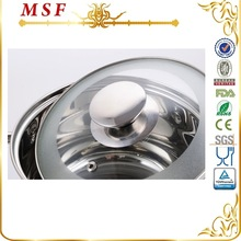 MSF satin finished glass lid of Japanese cookware