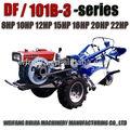 Cina buon fornitore 8-22hp 2wd motore diesel trattore prezzo di listino di vendita! Raffreddato ad acqua/potenza di condensazione tilelr prezzo di vendita!