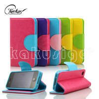 H&H hot design smart pu leather fancy case for iphone 4 4s from alibaba