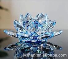 Optical Promotional shining crystal lotus flower