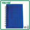 custom blue spiral notebook. plain color spiral notebook