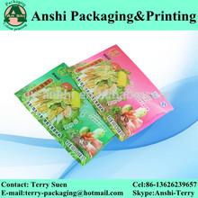 Plastic cooked food packaging bag back seal food bag