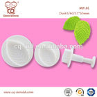 Factory direct supply large size rose leaf plunger cutter fondant cake decorating tools