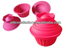 2014 new design cheap food grade silicone cake mould with cover