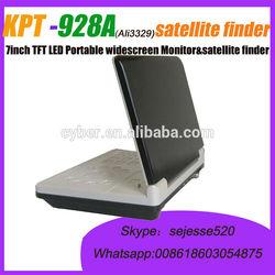 "KPT-928A sat finder widescreen 7"" KPT-928A Portable digital tv satellite finder meter"