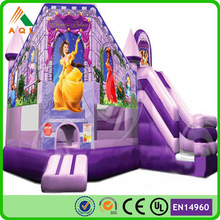 Purple elegant best selling princess tower inflatables ,hot sale my highness inflatable bouncy house