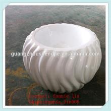 LF090122 Small white ceramic flower pots/christmas flower pots ceramic
