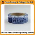 De billetes de rifa/cupones billete rollo de papel