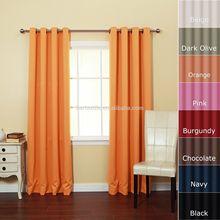 elegant solid color linen-look blackout curtain
