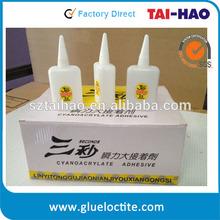 Discount price cyanoacrylate adhesive super glue 3 seconds