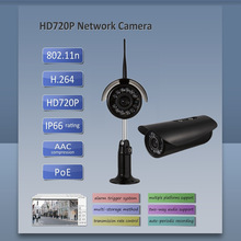 Hot sale 720P onvif P2P WIFI PHONE VIEW POWERLINE OUTDOOR Alarm Out PAL Network camera