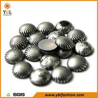 Korean Hotfix Motif Aluminum Round Dome Stud for hats