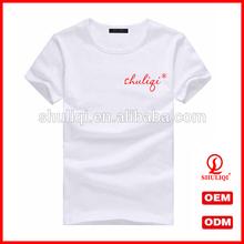 Plain round neck t shirt oem supply