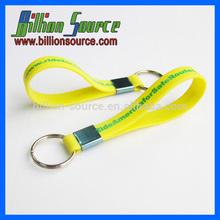 2015 100% pure silicone bracelet wristband key chain