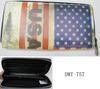 Fashion high quality PU leather new USA flag wallet