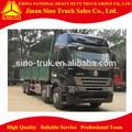 Sinotruck howo a7 12 rueda de camión de carga dimensión( 8600x2400x800)