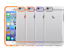 For Apple iPhone 6 4.7 New Arrival Fashion Dual Transparent Protection PC and TPU Case