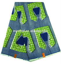 green windows design super wax fabric