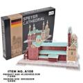2014 melhor venda educacional brinquedo de diy famoso estádio puzzle jogo 3d puzzle eva esteira do enigma
