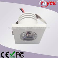 best mini spot rgb, dimmable led spotlight, 1 watt square aluminum recessed spot lights