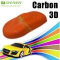 3d carbon folie mit luft frei Kanäle/Derek orange kohlefaser/Größe: 1.52*30m