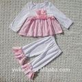 Kızlar sonbahar butik kıyafet, bebek giysileri ayarlamak, toptan çocuk butik giyim