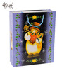 Porcelain snowmen printed 3d gift paper bags packaging for Christmas Day china manufacturer