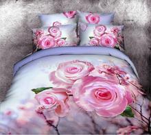 2014 New design 100% cotton comforter luxury 3d printed bedding set