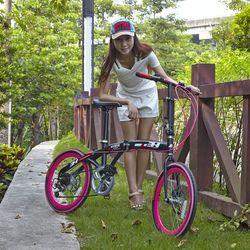 "New foldable girl bike lightweight aluminum folding bike 20"""