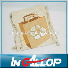 custom cotton bag drawstring