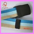 Vente gros haute qualité 1,5 pouces marque moderne couleur toile Mix pour ceinture avec boucle plastique