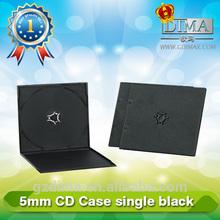 blank dvd cover,5.2mm black pp dvd box single