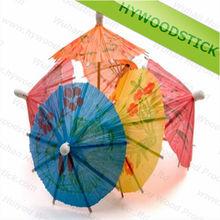 Cheap Price Birch Wooden Colourful Umbrella Cocktail Toothpicks