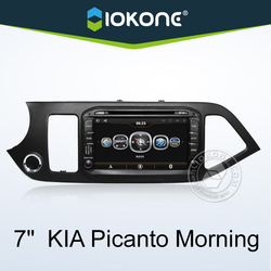 IOKONE chinese wholesale 7'' inch kia picanto car dvd player , kia picanto car radio with GPS , IPOD , Wifi/3G , SWC , BT