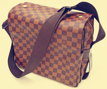 China Bag Manufacture Wholesale Custom PU Leather Plaid Check Messenger Bags Satchel Shoulder Sports Book Bags for Men and Women
