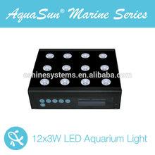 2014 new product 12x3w intelligent led aquarium light automatic programable