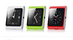 Sim Card smartWatch Cell Phone D6 Pedometer/Radio/Music Player/Remote Control Phone/2.0MP Camera/Recorder